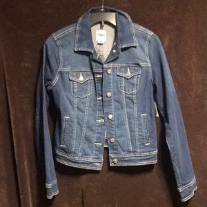 New with tags size small old navy trucker denim